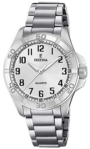 Festina Watches Reloj para Hombre Analógico de Cuarzo con Brazalete de Acero Inoxidable F20434/3