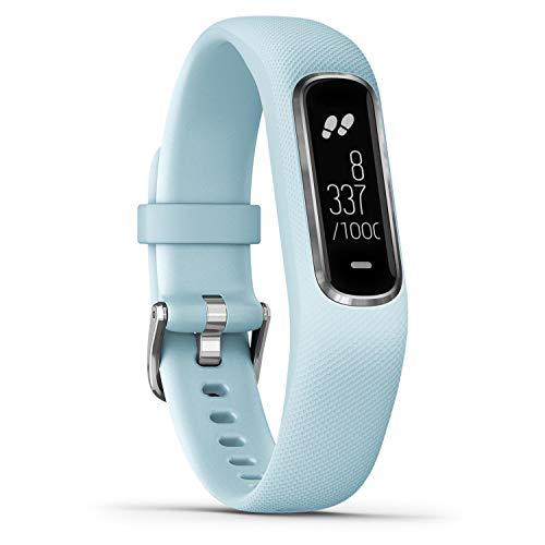 Garmin Damen vivosmart 4 Fitness-Tracker, WW, S/M, hellblau/silber