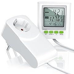 CSL - Compteur de coût de l'électricité Compteur d'énergie Compteur de consommation électrique y compris extension du câble - Power Cost Monitor - Date Heure Coûts Réglages co2 - 3680W