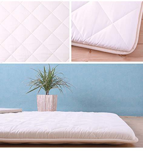 6歳までの寝具図鑑こどものふとん寝返りマットレスベビープレイマット120×120cmキルトパッド付(デニムスター)