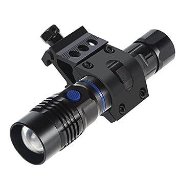 Support pour lampe torche Rosenice 25mm sur rail, lampe de poche tactique, noir