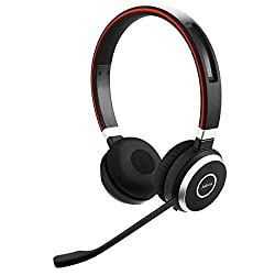 Jabra Evolve 65 UC Wireless Headset, Stereo – Includes Link 370 USB Adapter