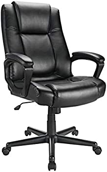 Realspace Hurston Bonded Leather High-Back Executive Chair