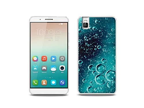 etuo Handyhülle für Huawei ShotX - Hülle, Silikon, Gummi Schutzhülle - Tröpfchen