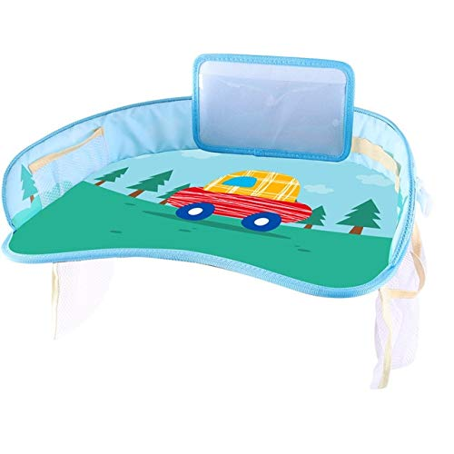 Car Baby Safety Seat Tray Child Car Storage Small Table Pallet Waterproof Pallette Multi-Function Plate Home Car Supplies 1