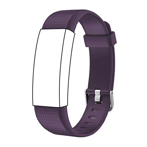 endubro Cinturino per Fitness Tracker ID130 Plus Color HR, Willful Orologio Fitness Tracker & Molti Altri Modelli Realizzato in TPU Skin-Friendly con Chiusura antiallergica (Viola)