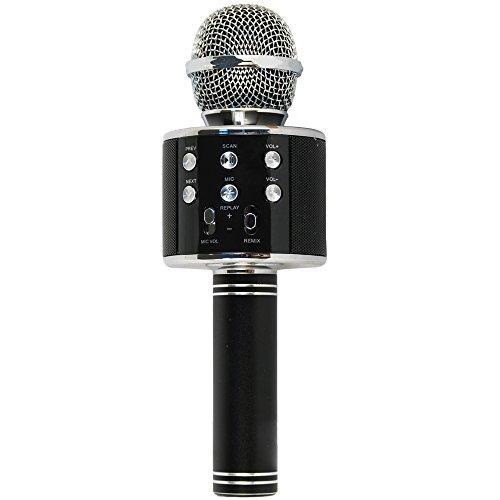 Xtreme 27837 Microfono con Speaker Integrato Bluetooth Portatile, Nero