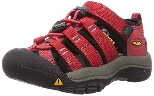 Keen Unisex-Kinder Newport H2 Trekking-& Wandersandalen,Rot (Ribbon Red/Gargoyle),25/26 EU