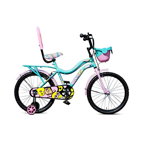 Leader Kids Buddy 20T Inches Carbon steel Frame Cycle For Unisex (5 to 9 Years, Sea Green/Light Blue)