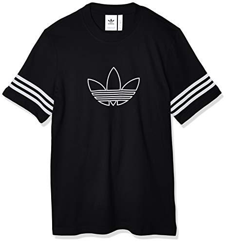 adidas Originals Outline tee Camiseta de Manga Corta, Hombre, Negro (Black), M