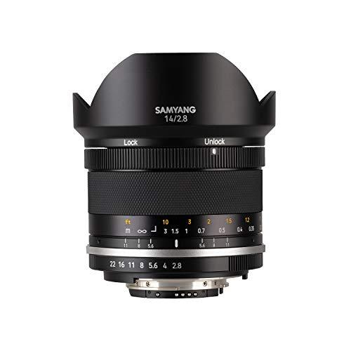 Samyang MF 14mm F2,8 MK2 für Nikon F AE – Weitwinkel Objektiv manueller Fokus für Vollformat und APS-C Festbrennweite Nikon F Mount, 2. Generation D7200, D750, D810, D500, D7500, D850, D780, D6