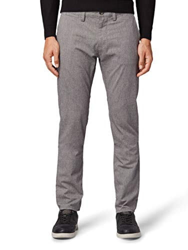 TOM TAILOR Herren Hosen & Chino Travis Slim Chino Hose Yarn Dye Structure Grey,32/32