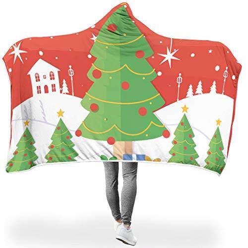 O2ECH-8 vleermuisdeken Kerstmis thema's afdrukken gezellig deken - boom cadeau groot voor mannen te gebruiken