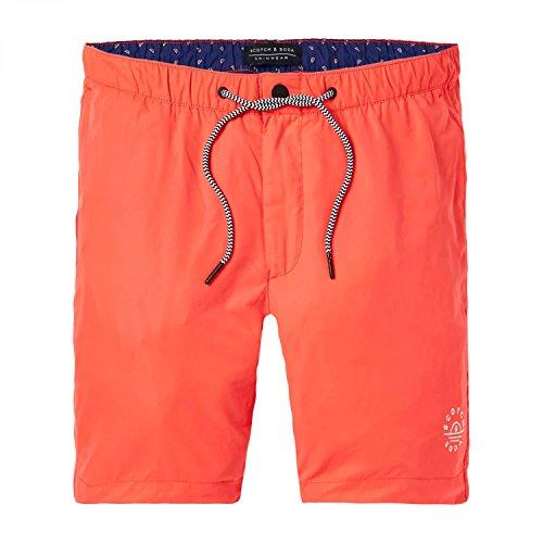 Scotch & Soda Badeshorts Men Basic Swim Short 142260 Blazing Red 1140 Orange, Größe:XXL