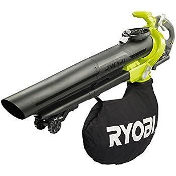 Ryobi Laubsauger RBV36B (bürstenloser Motor, 45 Liter Laubfangsack, Schultertragegurt, ohne Akku) 5133002524, 36 V, grün/schwarz/grau