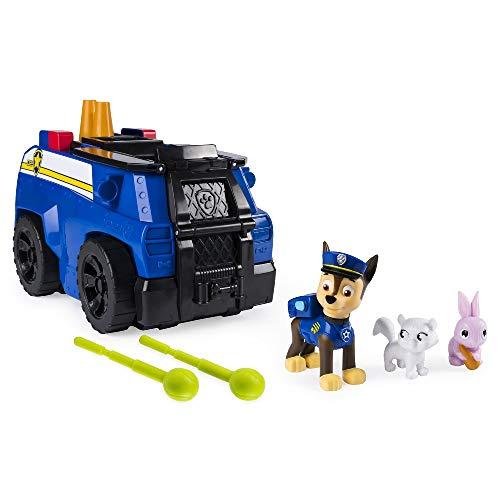 Paw Patrol, Ride 'N' Rescue di Chase, Gioco 2 in 1, Set di Gioco e Auto Della Polizia, dai 3 Anni