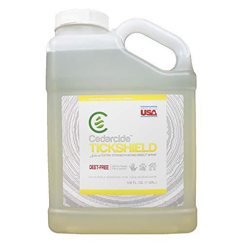 Cedarcide Extra Strength Tickshield Kit (Large) - Deep Woods Cedar Oil Tick & Mosquito Repellent Spray for People, Pets, & Indoors - Kills & Repels Fleas, Ticks, Ants, Mites and Mosquitoes