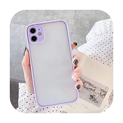 Hopereo - Carcasa híbrida para iPhone 11, carcasa de silicona y TPU mate