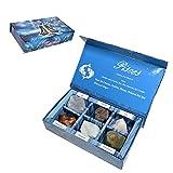 KACHVI Crystal Pisces Gifts-Zodiac Firma Piedras para complementar Las Piedras de Nacimiento-Cristales curativos Naturales con horóscopo Box Set