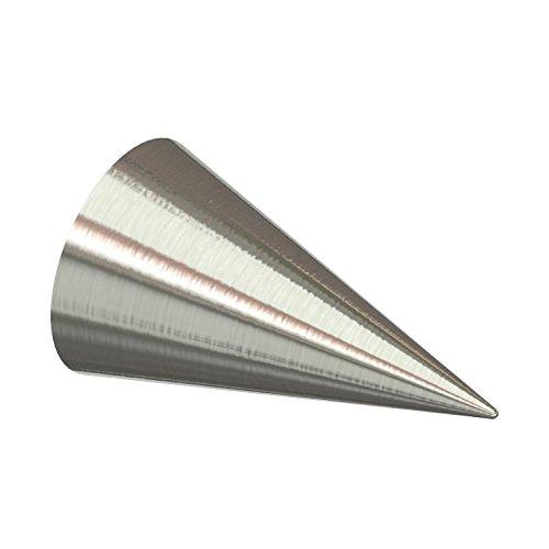 Flairdeco Endstücke für 20 mm Ø Gardinenstange, Kegel, Metall, Edelstahl-Optik, 2 Stück