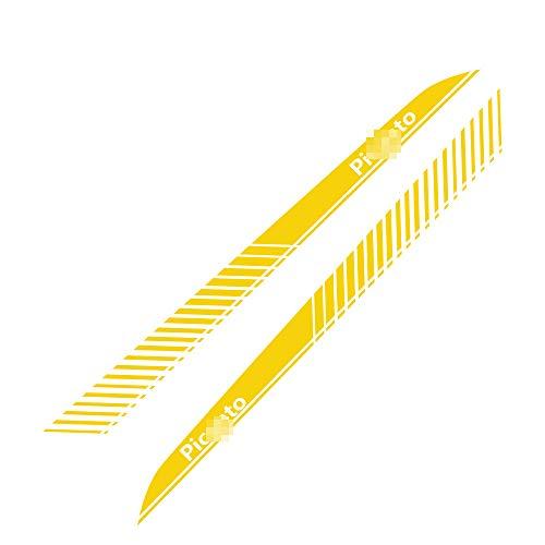 TAYDMEO 2pcs Car Side Stripe Aufkleber Film Auto Racing Sport Aufkleber Dekoration, Für KIA Picanto, Tuning DIY Styling Auto Zubehör,Tür Taillenlinie