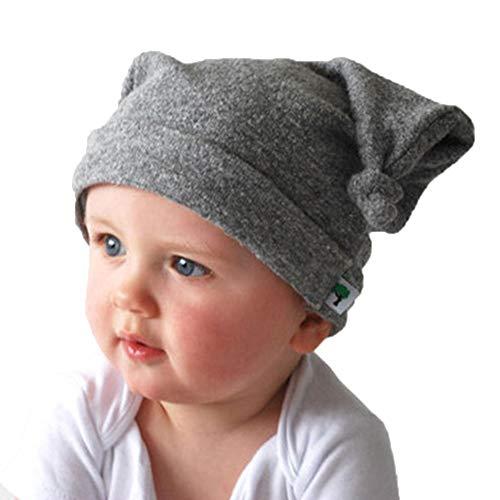 ODJOY-FAN-corno di bue Tie Cappello da bambino Berretto Neonato Bambino Bimbo in cotone Maglia Natale con Corno Cervo e Invernale Babbo Beanie Hat Carino