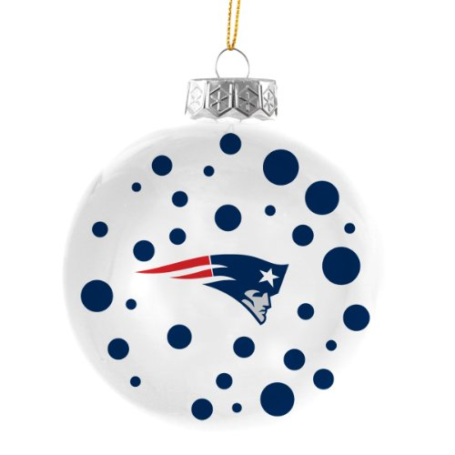 NFL New England Patriots Polka Dot Ball Christmas Tree Ornament