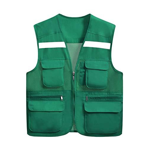 Liuyu veiligheidsvest, hoge zichtbaarheid, licht en ademend, voor reizen, 's nachts, veiligheid, meerdere zakken, werkkleding