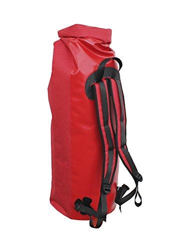 Sacco Mare impermeabile-trasporto sacco con chiusura roll, Rot, 60 litri