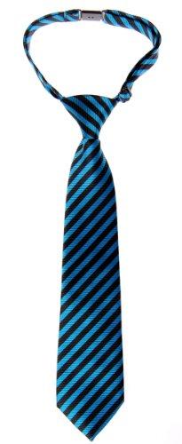 Retreez Jungen Gewebte vorgebundene Krawatte Gestreifte - blau und schwarz - 24 Monate – 4 Jahre
