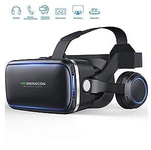 Qianyuyu Occhiali Virtuali 3D, Visore Realtà Virtuale Occhiali Headset Virtual Reality 3D Film Glasses per iPhone XS/Max X 8 7 6 6S /Plus Samsung S8 S7 Huawei da 4,5 a 6,0 Pollici