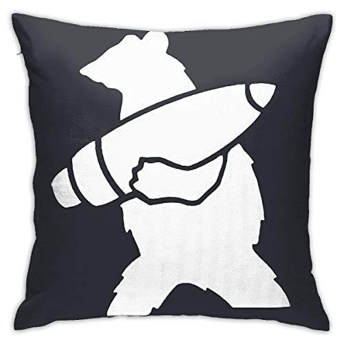 qimingshajinzhubaoshangxing Wojtek The Bear - Funda de almohada para sofá y coche, diseño de oso