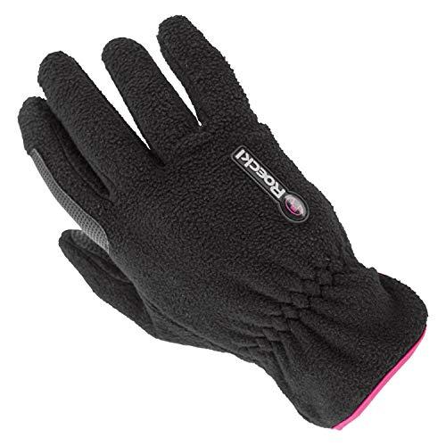 Roeckl Sports Junior Winter Handschuh Kairi, Kinder Reithandschuh, Schwarz/Pink, 6