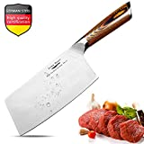 Meat Cleaver,7 inch Vegetable and Butcher Knife German High Carbon Stainless Steel Kitchen Knife...