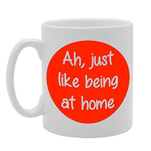 MG004 Ah, net als thuis Novelty cadeau afgedrukte thee koffie keramische mok