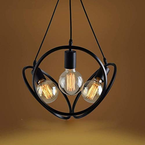 DXYSS Decoración Hogareña Iluminación Colgante Araña de Luces, lámpara de Metal de Hierro Forjado Nordic Retro Personalidad jardín Bar Dormitorio salón lámpara lámpara de ingeniería