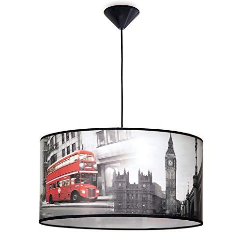 Lámpara colgante juvenil con temática de Londres