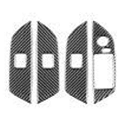 Fangfang Pegatina cubierta TRIM car styling Accesorios carbono Fibra ventana interruptor de elevación botón TRIM etiqueta ajuste para BMW E84 X1 2011-2015 LHD