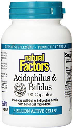 Natural Factors - Acidophilus & Bifidus, Promotes Well-Being & Digestive Health, 90 Capsules