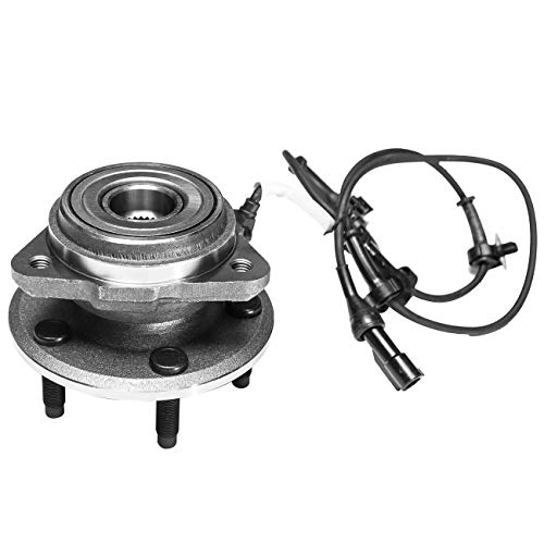 TUCAREST 515003 Front Wheel Bearing and Hub Assembly Compatible 1995-2001 Ford Explorer 01-02 Ford Explorer Sport Trac 97-01 Mercury Mountaineer [4X4 4WD AWD 5 Lug W/ABS] (1999 Ford Explorer 4x4 Front Wheel Bearing Replacement)
