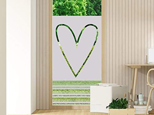 GRAZDesign Fensterfolien Streifen - Glasfolie - Folien für Glastüren - Duschkabinen Badfenster Folie/Motiv: Herz mit Streifen / 60x80cm Breite x Höhe