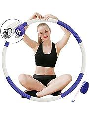 DUTISON Hula Hoop Gewogen Fitness - Verstelbare Gewatteerde Hoola Hoop voor Volwassenen Oefening Trainingen GYM Vrouwen Man 1,1 kg Breedte 92 cm (36,2 inch)