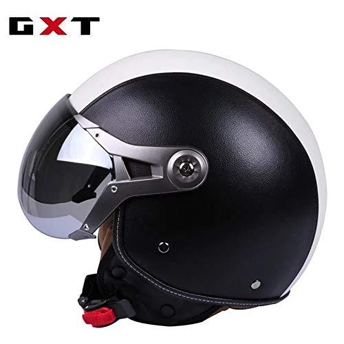 Berrd Mezzo casco per motociclo elettrico mezzo casco semicoperto Prince casco per casco moto retrò uomo e donna stagionicasco tourer