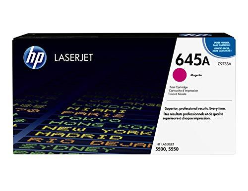 HP C9733A 645A Original LaserJet Toner Cartridge, Magenta, Pack of 1