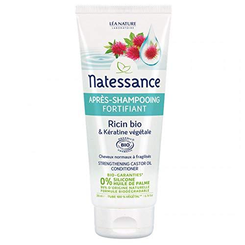 Natessance Après-Shampooing Fortifiant Ricin Bio et Kératine Végétale 200 ml