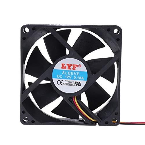 YUXIwang Mini ventilador USB de 3 pines 80 mm x 25 mm CPU PC ventilador refrigerador disipador de calor escape
