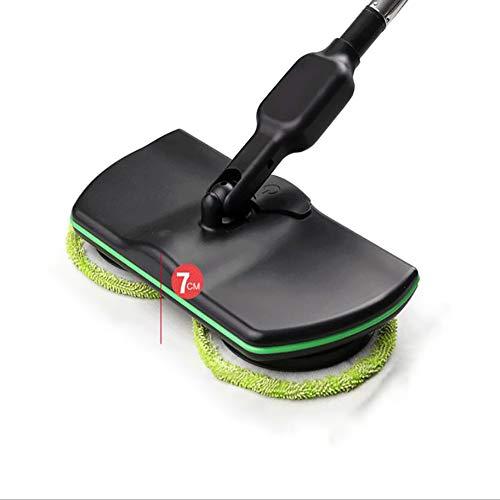 LTJY vloerwisser, mop met 4 microvezel-wishoes, 180 graden draaibaar voor natte reiniging en droogreiniging, spray mop voor het reinigen van huis, kantoor