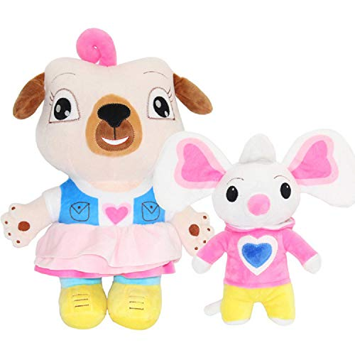 peluche 2pcs School Chip E Potato Pelh Giocattoli Cartone Animato Pug Cane E Mouse Peluche Bambola Film Chip E Topo Stuffed Dolls