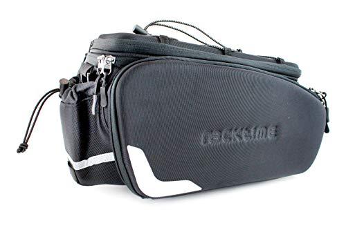 Racktime Unisex– Erwachsene Odin Fahrradtasche, schwarz, 13 L + 10 L