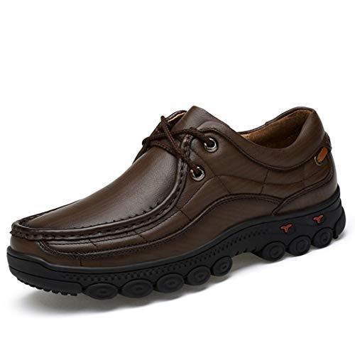 MALPYQ 2018 mannen leer casual wandelschoenen groot formaat mannen leren schoenen